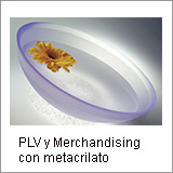 PLV y merchandisign con metacrilato